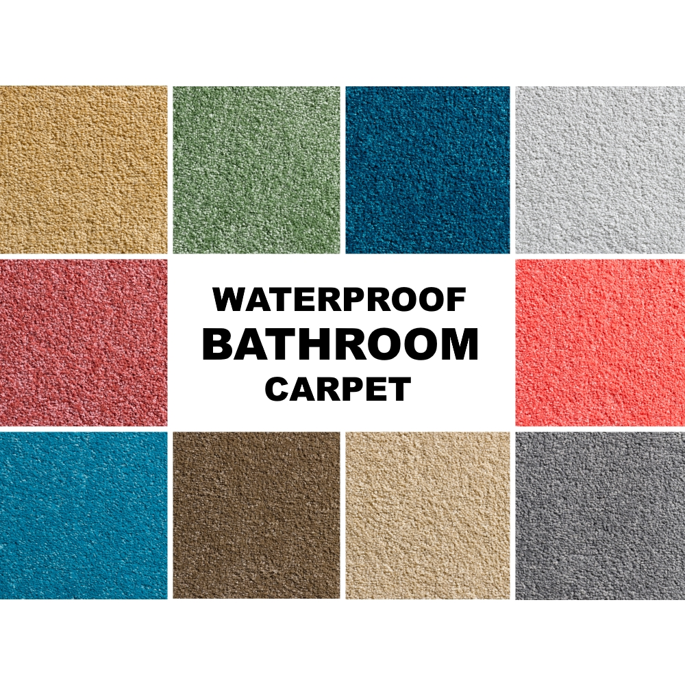 sample waterproof bathroom carpet gel waffle back soft stain resistant toilet ebay. Black Bedroom Furniture Sets. Home Design Ideas