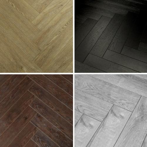 Sample Herringbone 12mm Laminate Flooring Textured Oak